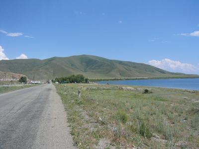 Blick auf einen Berg im Kaukasus